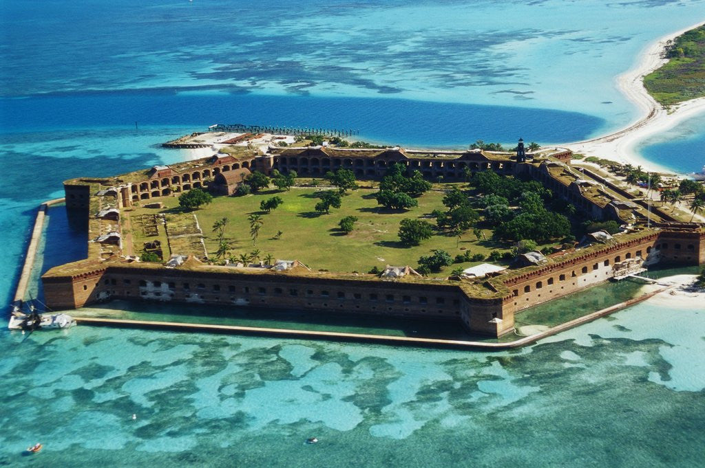 Detail of Aerial View of Fort Jefferson by Corbis