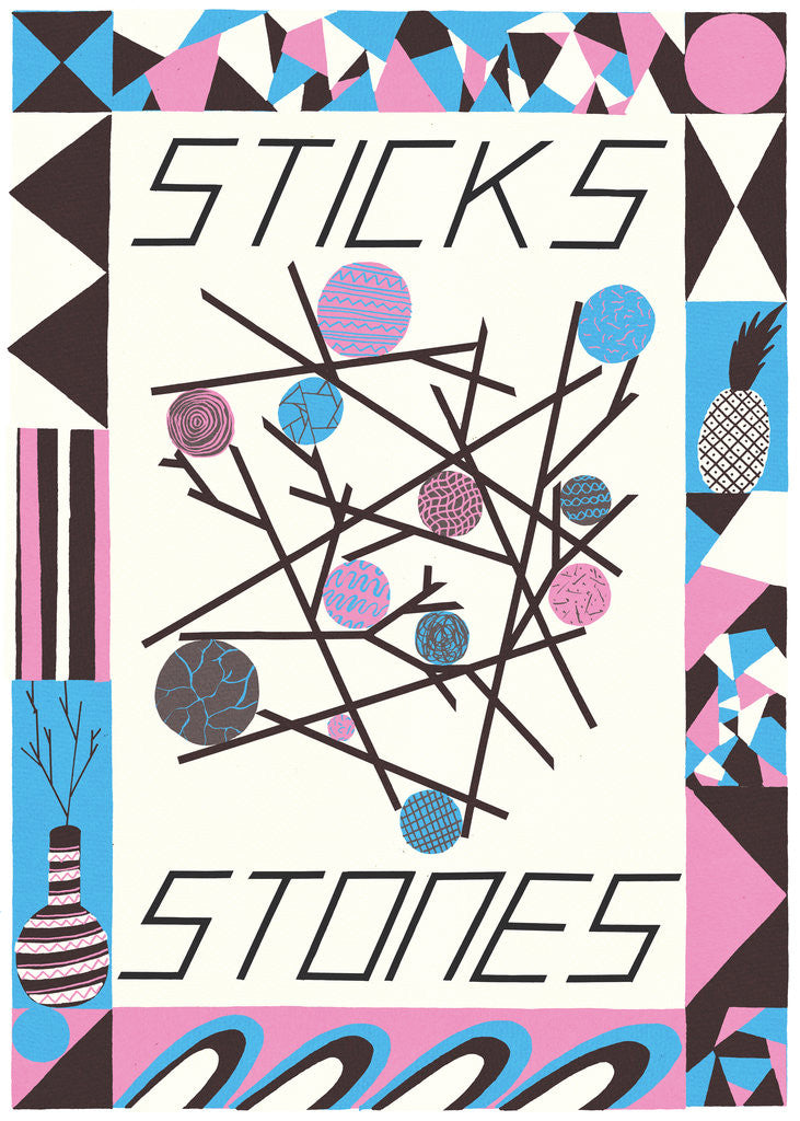 Detail of Sticks and Stones by Joe Rogers