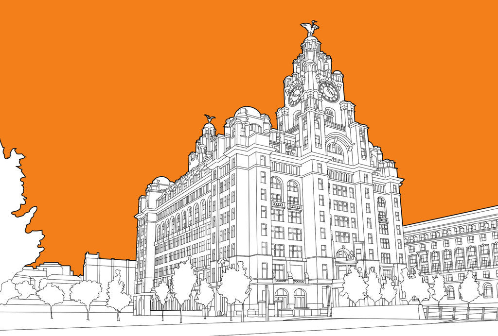 Detail of Royal Liver Building by People Will Always Need Plates