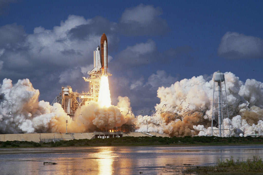Detail of Launch of the Space Shuttle Discovery by Corbis