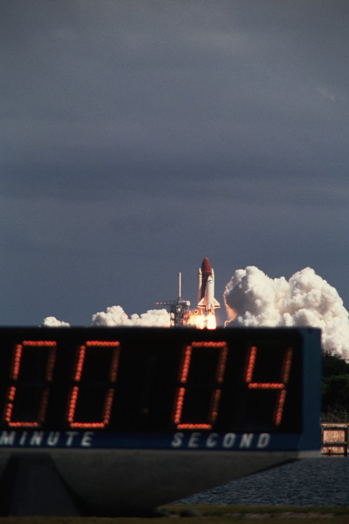 Detail of Countdown to Space Shuttle Discovery Launch by Corbis