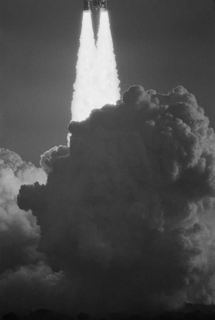 Detail of Space Shuttle Columbia Lifting Off by Corbis