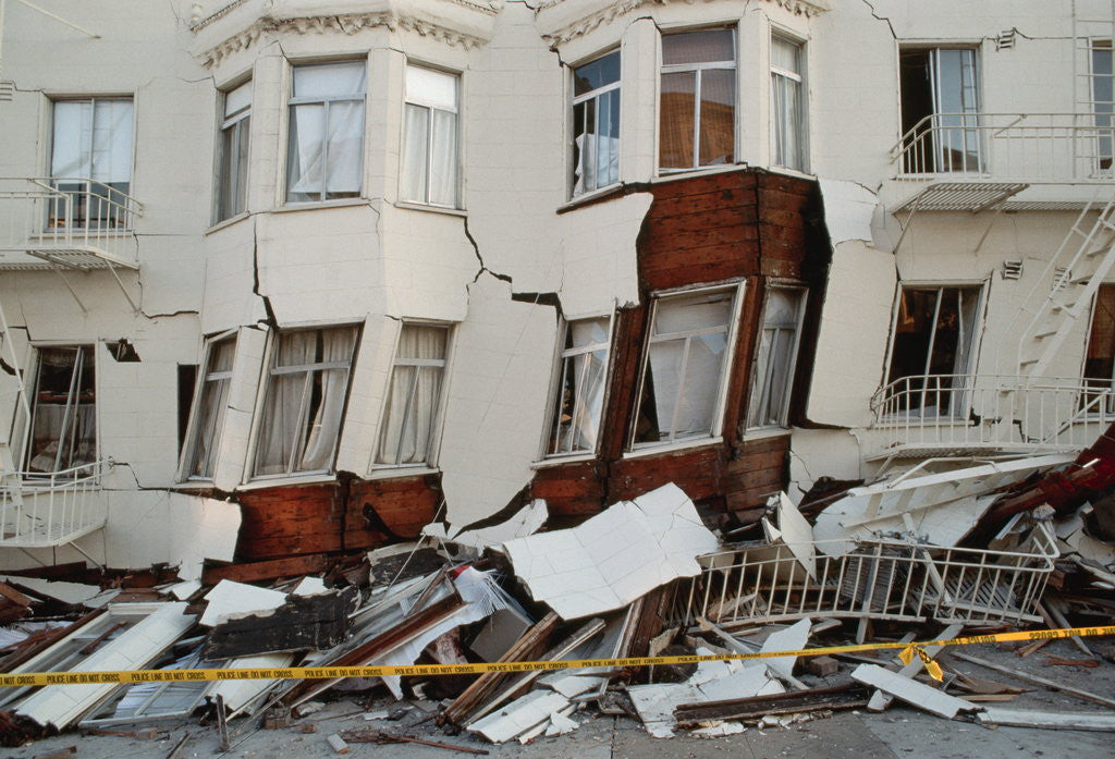 Detail of House Destroyed by Earthquake by Corbis
