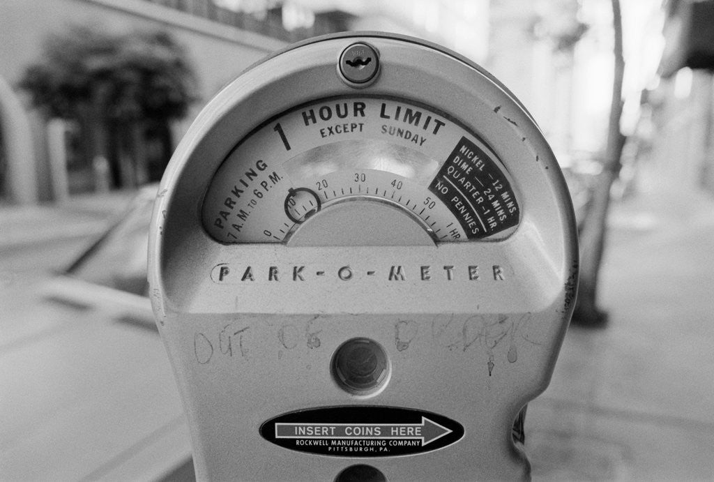 Detail of Close-up View of Parking Meter by Corbis