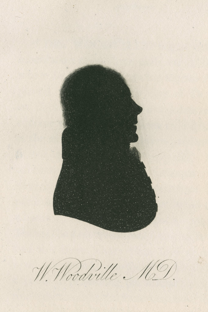 Detail of Portrait silhouette of William Woodville (1752-1805) by Anonymous