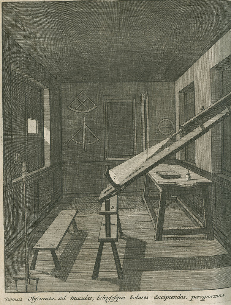 Detail of Method of observing the Sun at the Royal Observatory, Greenwich by Francis Place