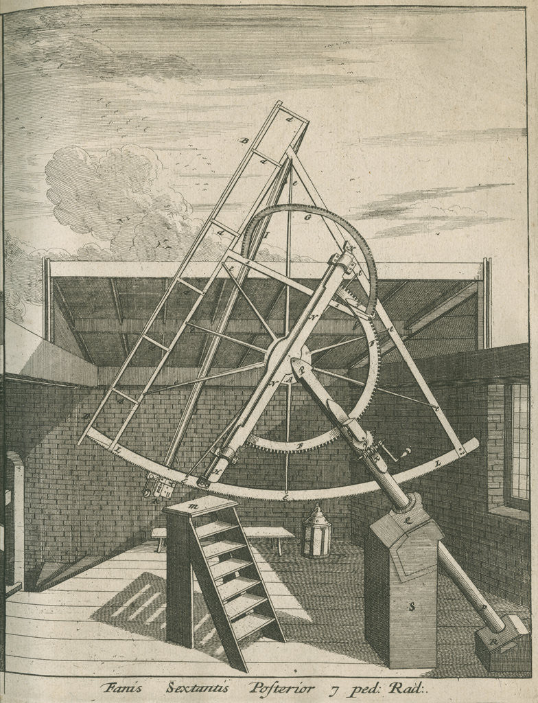 Detail of Equatorial sextant at the Royal Observatory, Greenwich by Francis Place