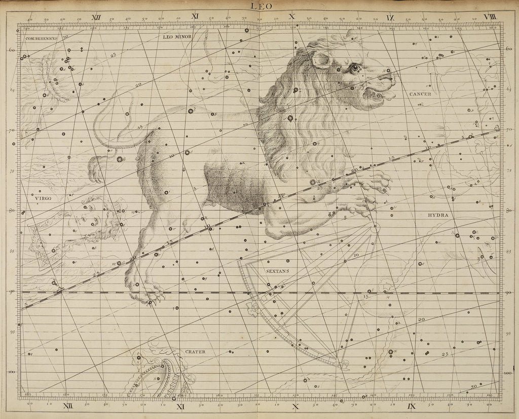 Detail of Leo, from John Flamsteed's 'Atlas Coelestis by Anonymous