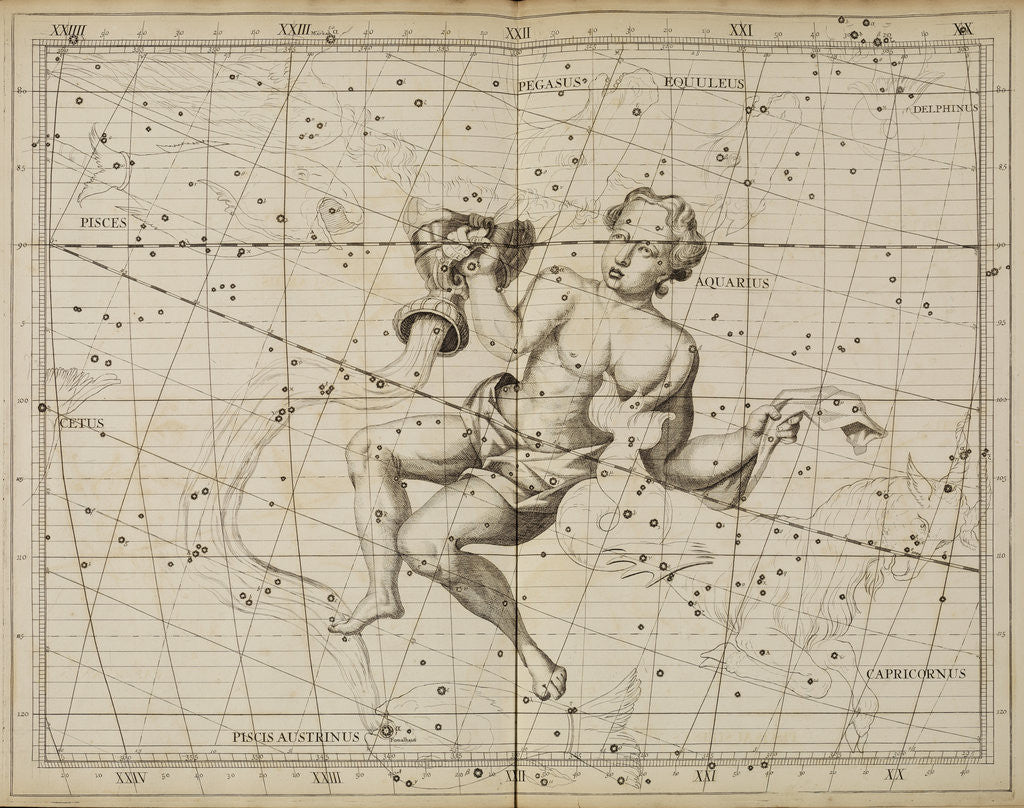 Aquarius, from John Flamsteed's 'Atlas Coelestis by Anonymous