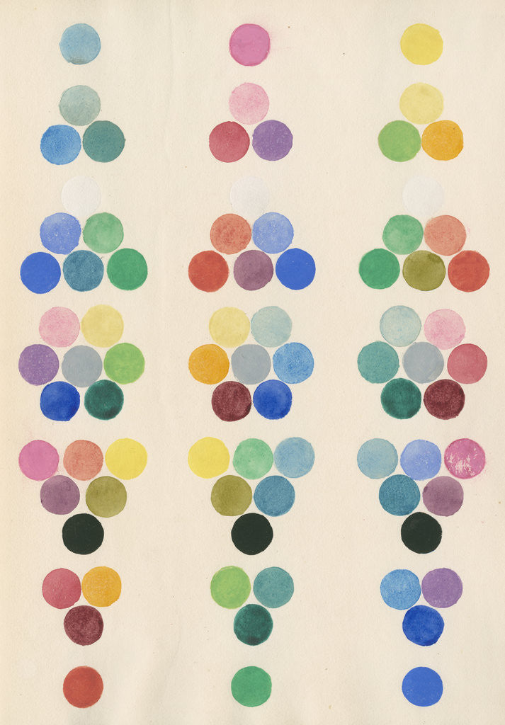 Detail of Colour spot chart by Anonymous
