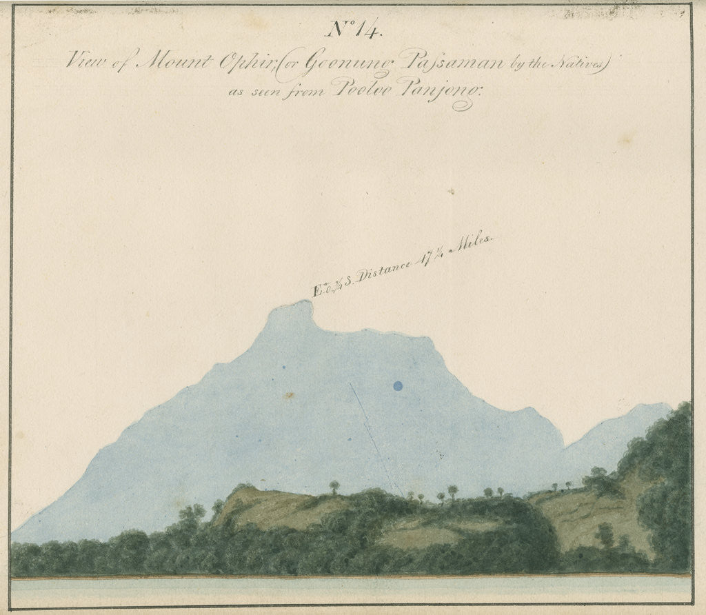 Detail of Mount Talakmau, Sumatra by unknown