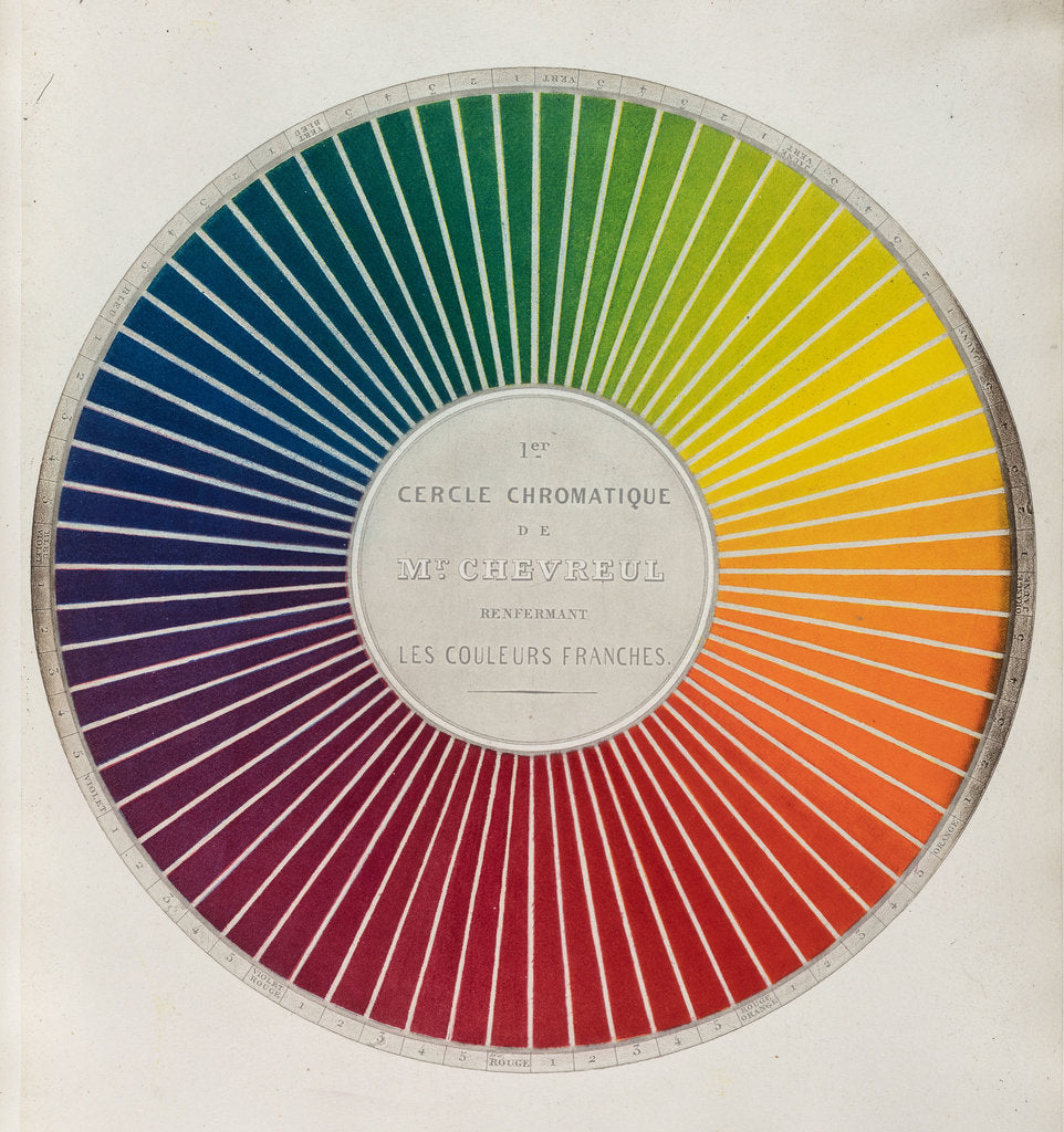 Detail of Colour circle by Michel Eugene Chevreul