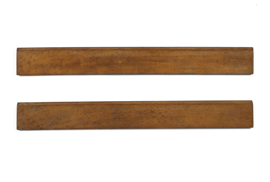 Detail of Wooden rulers from Woolsthorpe by Anonymous