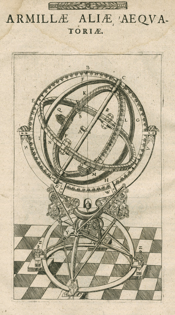 Detail of Tycho Brahe's second equatorial armillary sphereillary sphere by Anonymous