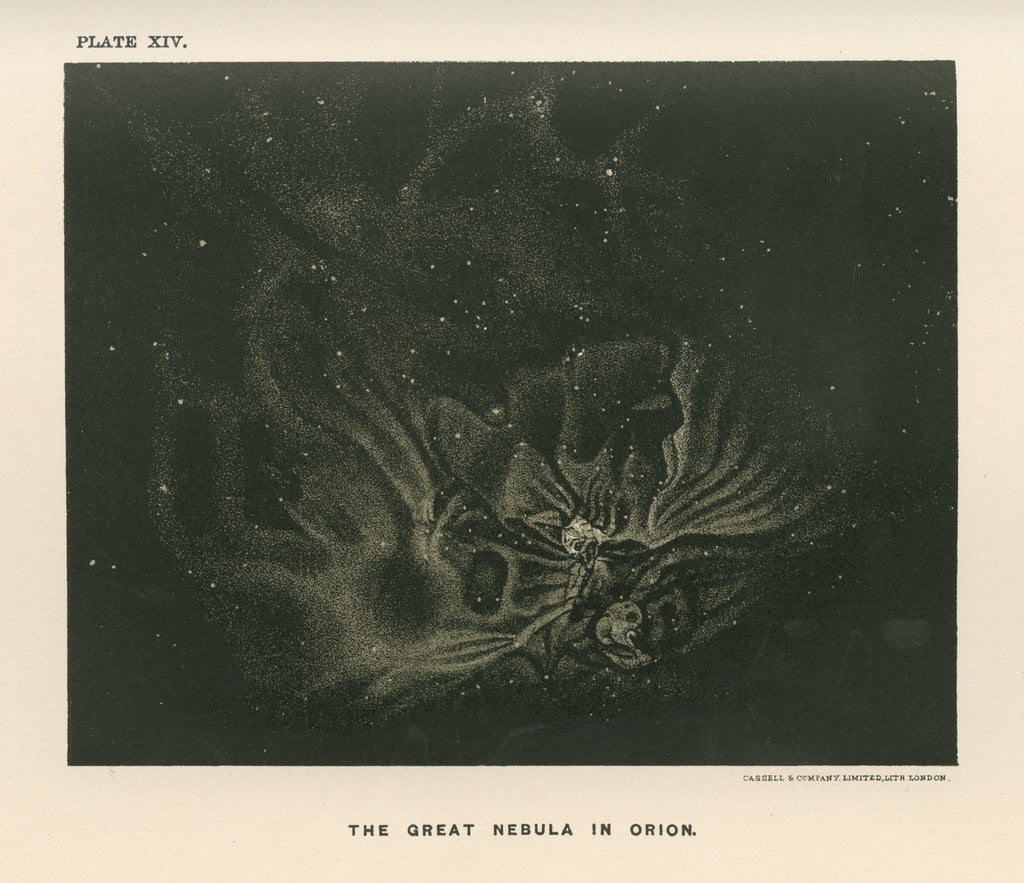 Detail of 'The great nebula in Orion' by Cassell & Co