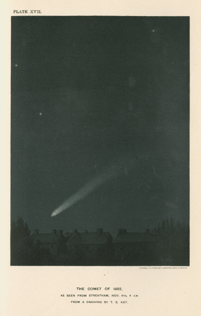 Detail of 'The comet of 1882 as seen from Streatham' by Cassell & Co