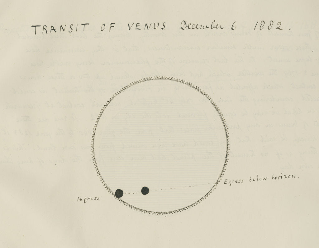 'Transit of Venus December 6, 1882' by Samuel Johnson
