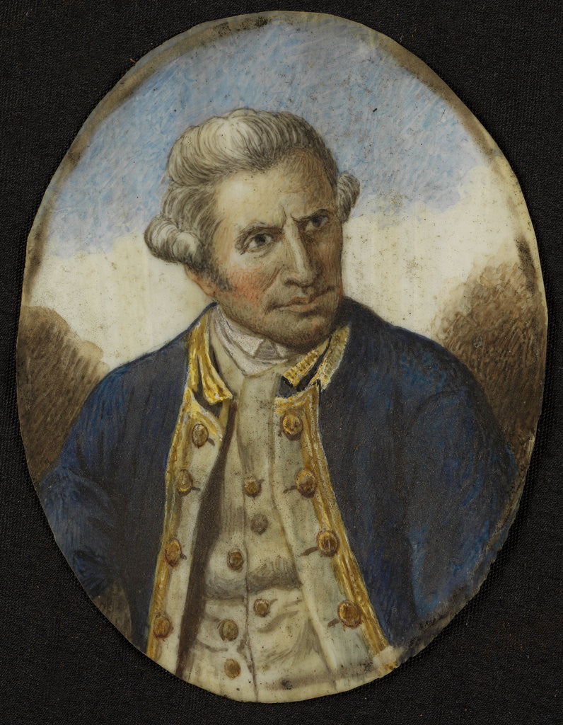 Detail of Miniature of James Cook (1728-1779) by unknown