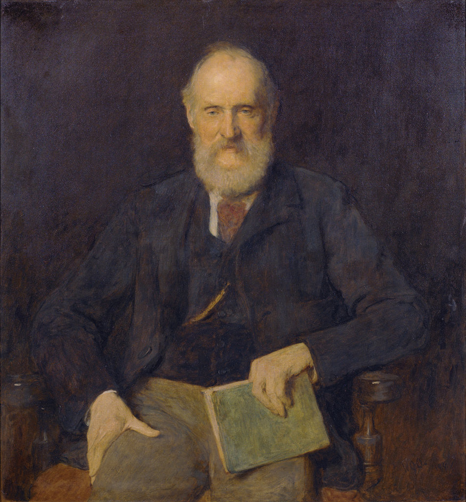 Detail of Portrait of William Thomson, Baron Kelvin of Largs (1824-1907) by William Quiller Orchardson