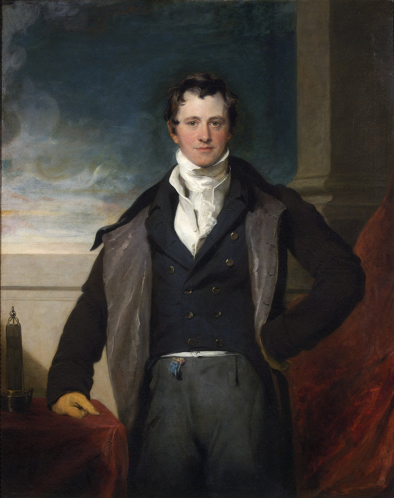 Detail of Portrait of Humphry Davy (1778-1829) by Thomas Lawrence