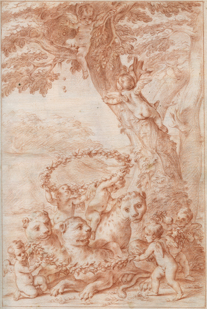 Detail of Frontispiece of Marcello Malpighi's 'Anatome Plantarum' by Marcello Malpighi