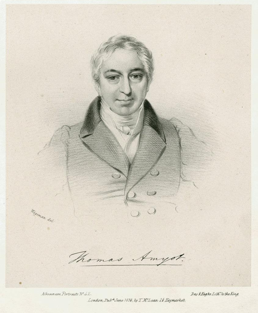 Portrait of Thomas Amyot (1775-1850) by Day & Haghe