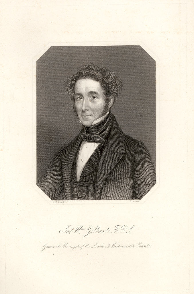 Portrait of James William Gilbart (1794-1863) by Henry Adlard