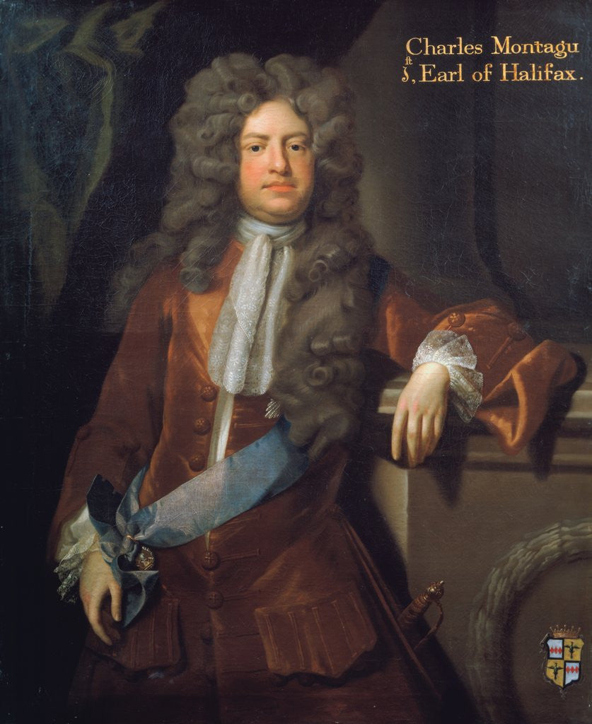 Detail of Portrait of Charles Montagu, 1st Earl of Halifax (1661-1715) by Michael Dahl