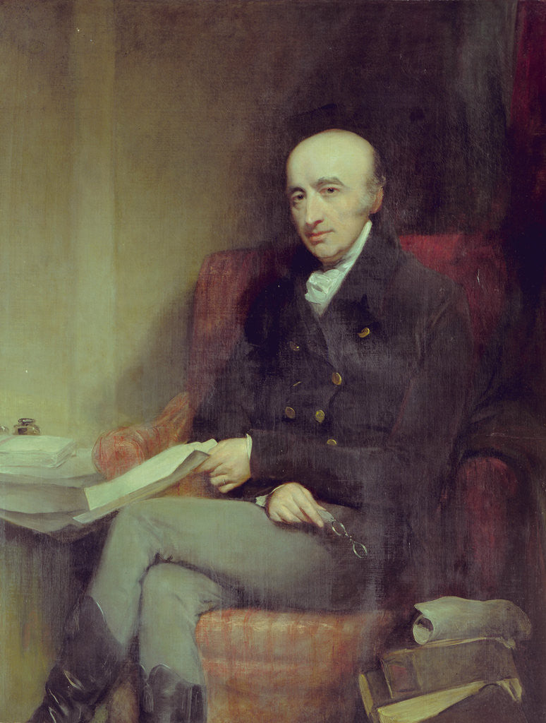 Detail of Portrait of William Hyde Wollaston (1766-1828) by John Jackson