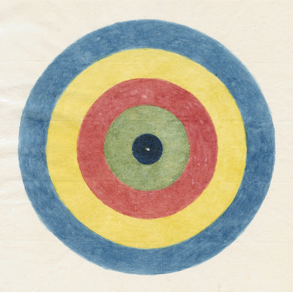 Detail of Roundel for use in optical experiments by Robert Waring Darwin