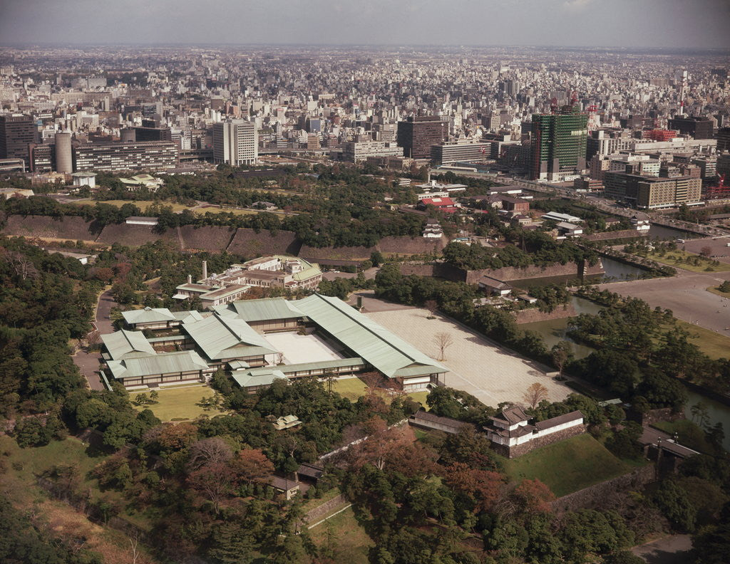 Detail of Aerial of Japanese Imperial Palace by Corbis