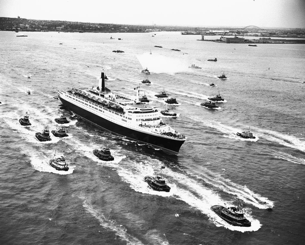 Detail of Cruise Ship Entering New York's Harbor by Corbis