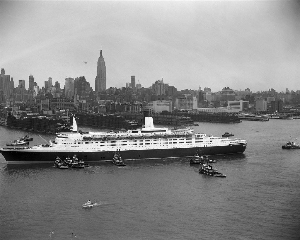 Detail of Cruise Ship in New York's Harbor by Corbis