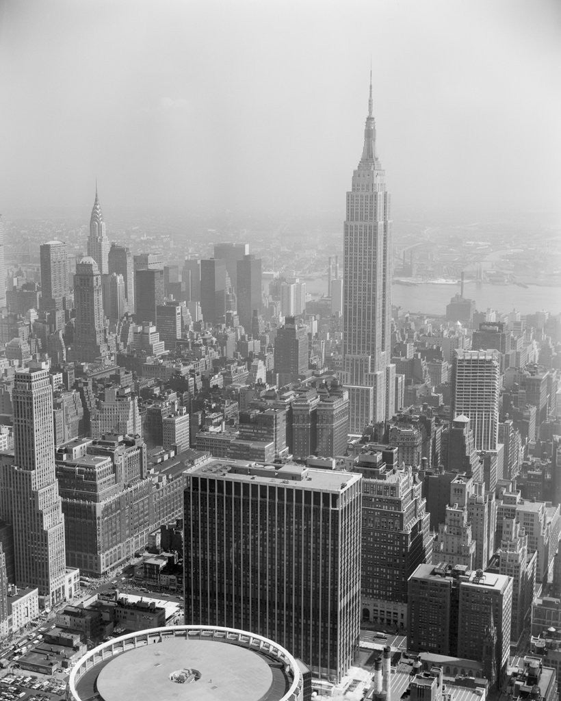 Detail of Empire State Building and City Center by Corbis