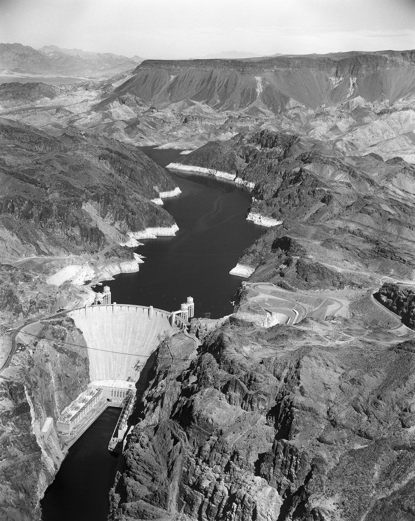 Detail of Aerial View of Hoover Dam by Corbis