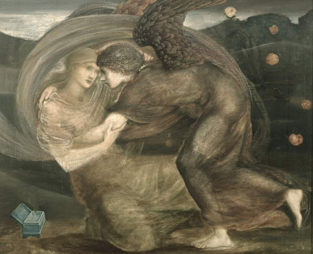 Detail of Cupid and Psyche by Edward Coley Burne-Jones