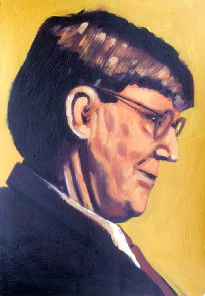 Detail of Alan Bennett by Sara Hayward