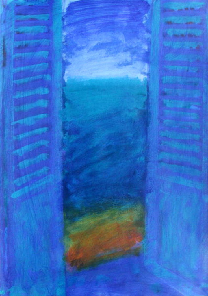 Detail of Blue Shutters by Sara Hayward