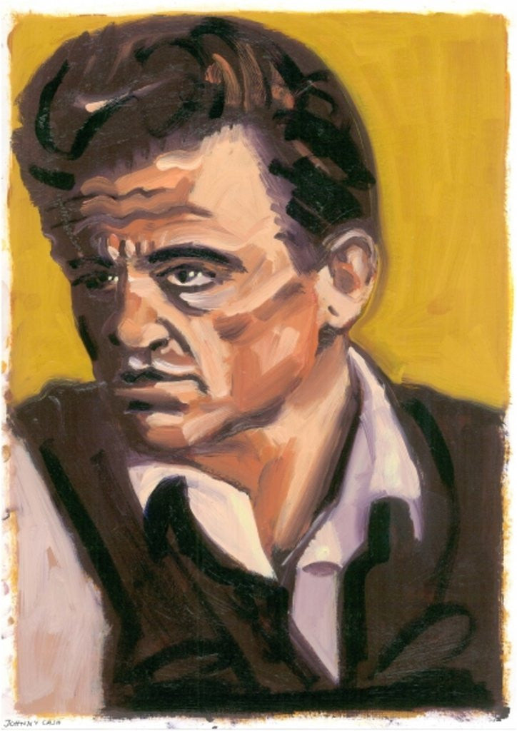 Detail of Johnny Cash by Sara Hayward