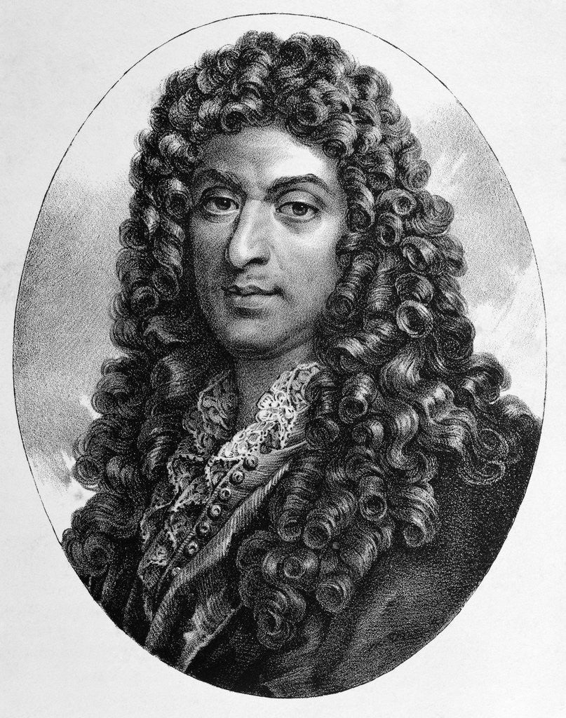 Detail of 19th Century Engraving of Jean-Baptiste Lully by Corbis