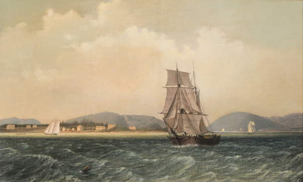 Detail of Off Mt. Desert Island, Maine, 1850 by Fitz Henry Lane