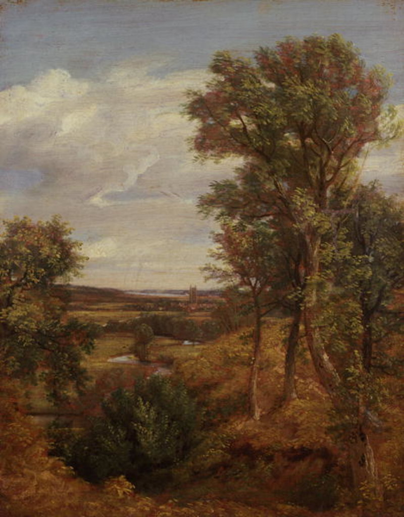 Detail of Dedham Vale, 1802 by John Constable