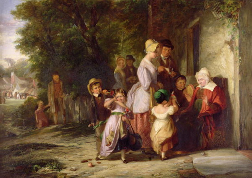 Detail of Returning from the Fair, 1837 by Thomas Webster