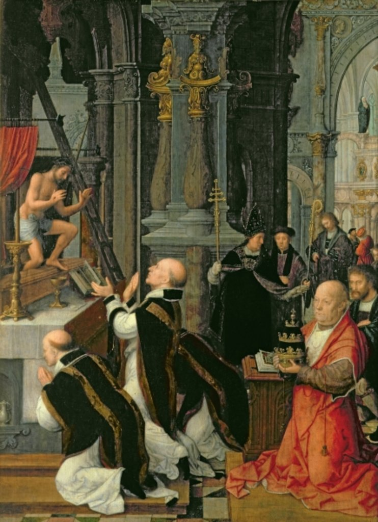 Detail of The Mass of St. Gregory by Adriaen Isenbrandt or Isenbrant