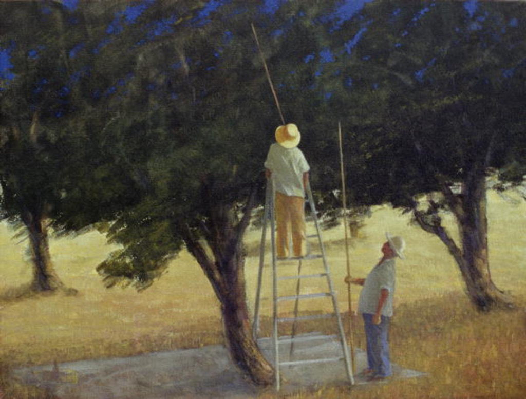 Detail of Olive Pickers by Lincoln Seligman