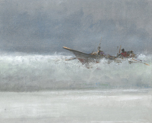 Detail of Breaking the Surf, Sri Lanka by Lincoln Seligman
