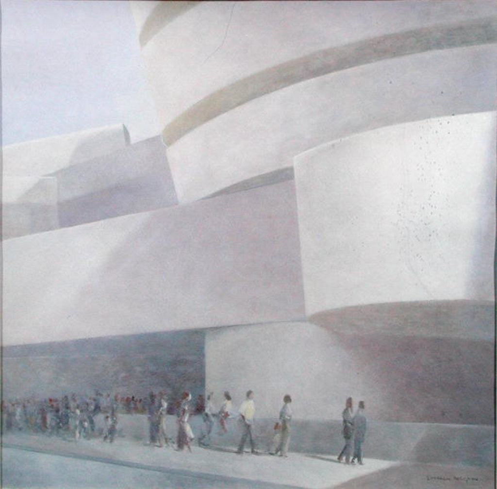 Detail of Guggenheim Museum, New York by Lincoln Seligman