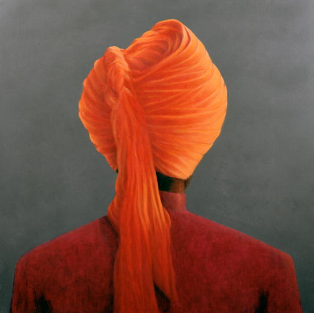 Detail of Orange Turban by Lincoln Seligman