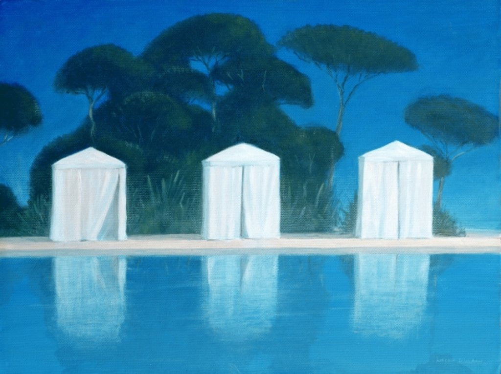 Detail of Pool Tents by Lincoln Seligman