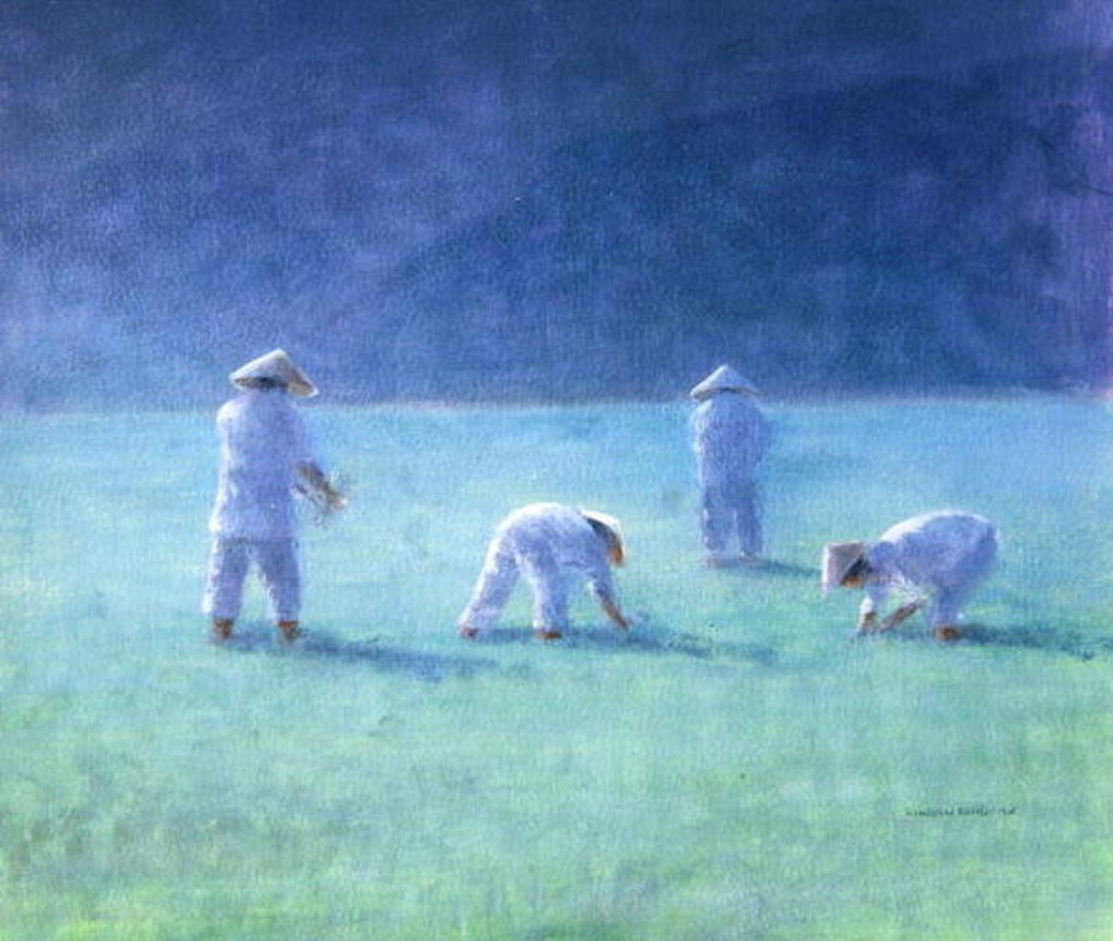Detail of Rice Farmers by Lincoln Seligman